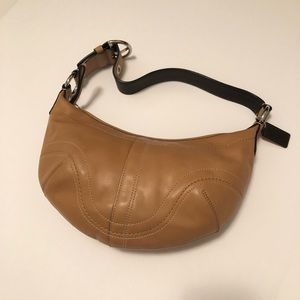 Coach Camel Small Leather Hobo Shoulder Purse
